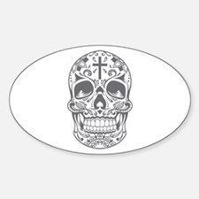 SugarSkull Grey-01 Decal