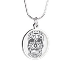 SugarSkull Grey-01 Necklaces