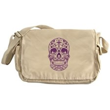 SugarSkull Purple-01 Messenger Bag
