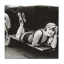 Bathing Beauty, 1918 Tile Coaster