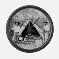 Cowboys in Camp, 1890 Large Wall Clock