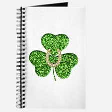 Glitter Shamrock And Horseshoe Journal