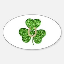 Glitter Shamrock And Horseshoe Decal