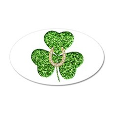 Glitter Shamrock And Horseshoe Wall Decal