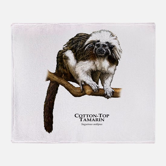 Cotton-Top Tamarin Throw Blanket