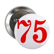 """RED #75 2.25"""" Button"""