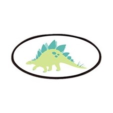Green Stegosaurus Patches