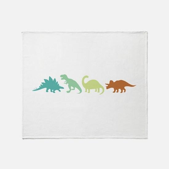 Prehistoric Medley Border Throw Blanket