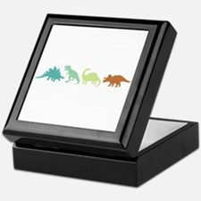Prehistoric Medley Border Keepsake Box