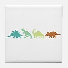 Prehistoric Medley Border Tile Coaster
