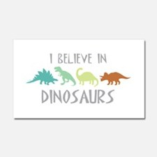 I Believe In Dinosaurs Car Magnet 20 x 12