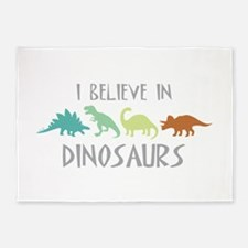 I Believe In Dinosaurs 5'x7'Area Rug