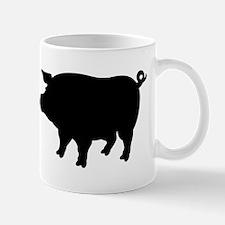 Pig Silhouette Mugs