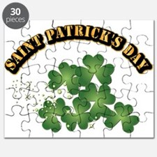 Saint Patrick's Day With Text Puzzle