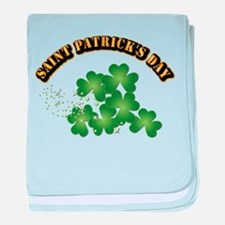 Saint Patrick's Day With Text baby blanket