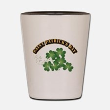 Saint Patrick's Day With Text Shot Glass
