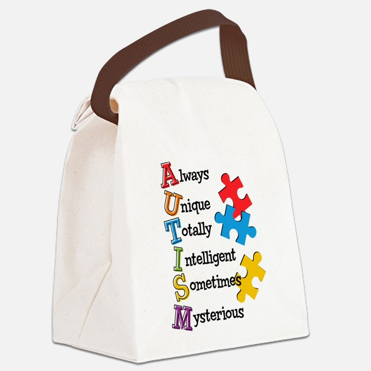 Autism Acrostic Canvas Lunch Bag