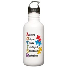 Autism Acrostic Water Bottle