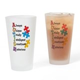 Autism Pint Glasses