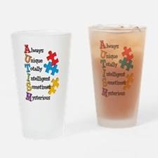 Autism Acrostic Drinking Glass