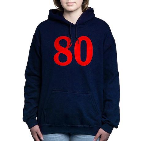 RED #80 Hooded Sweatshirt