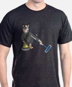 Australian Cattle Dog Curling T-Shirt