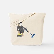 Australian Cattle Dog Curling Tote Bag
