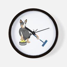 Australian Cattle Dog Curling Wall Clock