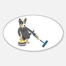 Australian Cattle Dog Curling Decal