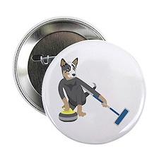 "Australian Cattle Dog Curling 2.25"" Button"