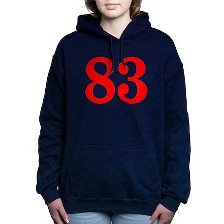 RED #83 Hooded Sweatshirt