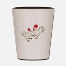 Two Chickens Shot Glass