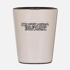 SpiritAnimalWht Shot Glass