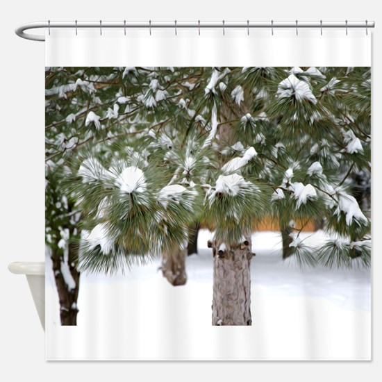 Winter trees 1 Shower Curtain