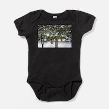 Winter trees 1 Baby Bodysuit