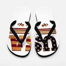 USA since 1776 Flip Flops