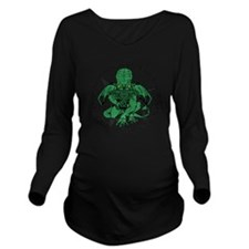 Cthulhu Long Sleeve Maternity T-Shirt