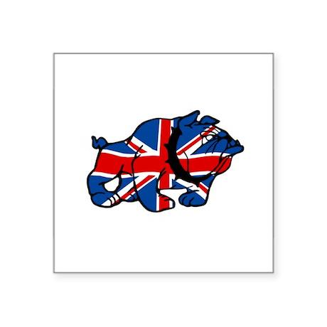 British Bulldog Union Jack Oval Sticker