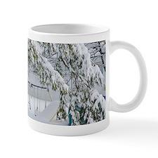 Snowy trees in winter landscape Mugs