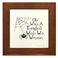 Tangled Web Spider Framed Tile