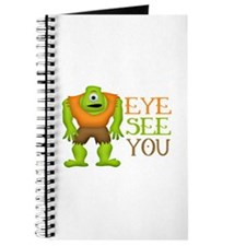 Eye See You Funny Cyclops Monster Journal