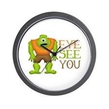 Eye See You Funny Cyclops Monster Wall Clock