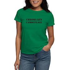 Chroma Key Camouflage Women'S Women'S Dark T-Shirt