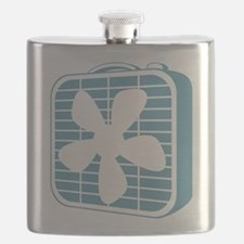 Box Fan Graphic Flask