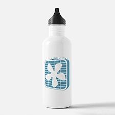 Box Fan Graphic Water Bottle
