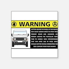 Rover Occupant Advisory Sticker