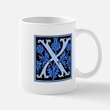 Blue Fleur2 Monogram X Mug
