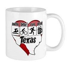 Texas Swim Bike Run Drink Mug