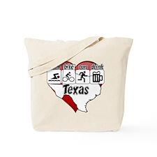 Texas Swim Bike Run Drink Tote Bag