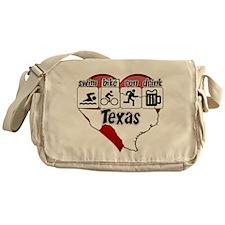 Texas Swim Bike Run Drink Messenger Bag